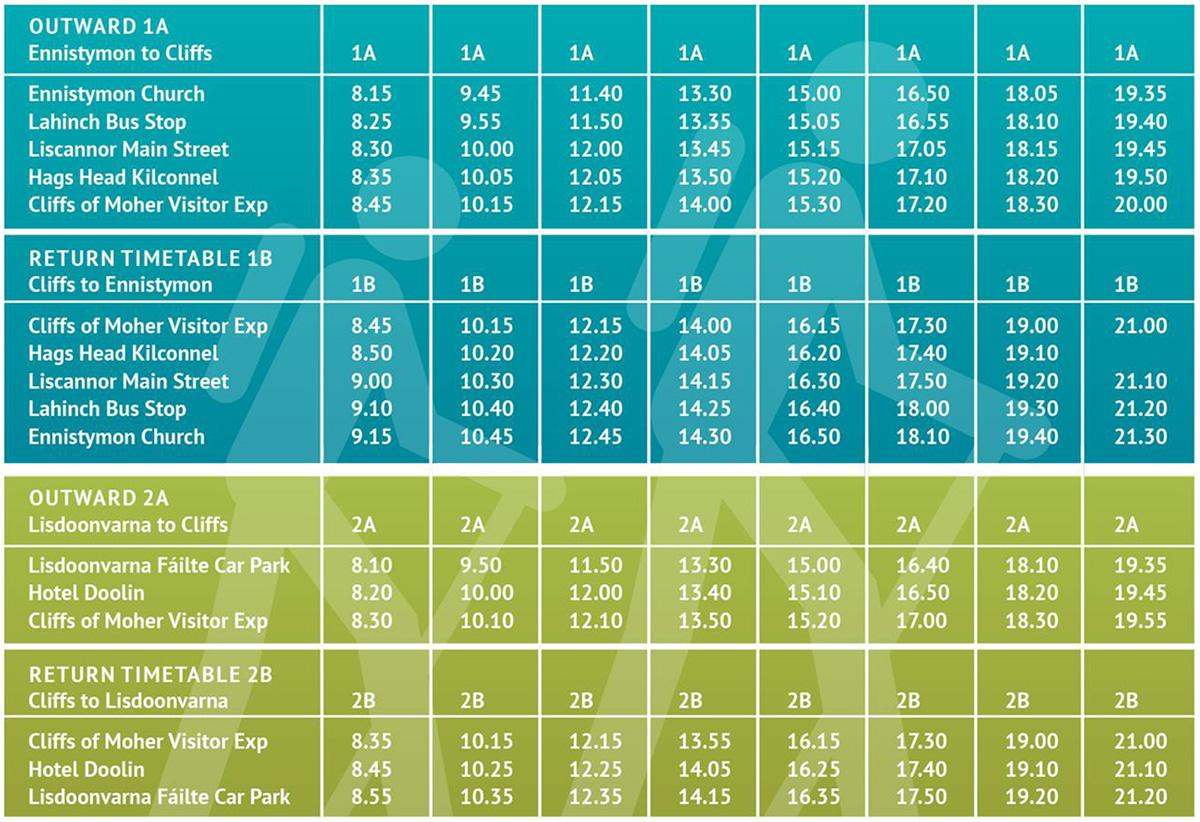 moher time table